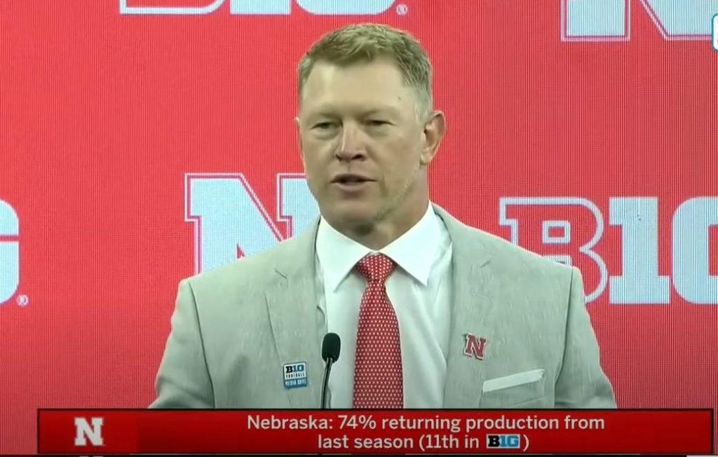 Nebraska Coach Scott Frost Speaks with the Media | 2021 Big Ten Football Media Days