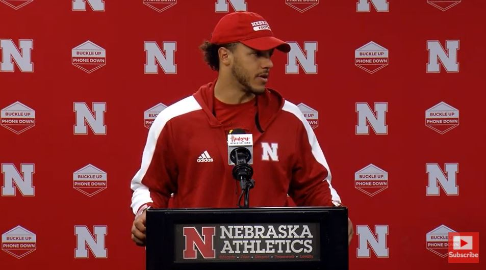 Adrian Martinez talks about 4th quarter fumble, overall loss to Michigan | Postgame Press Conference