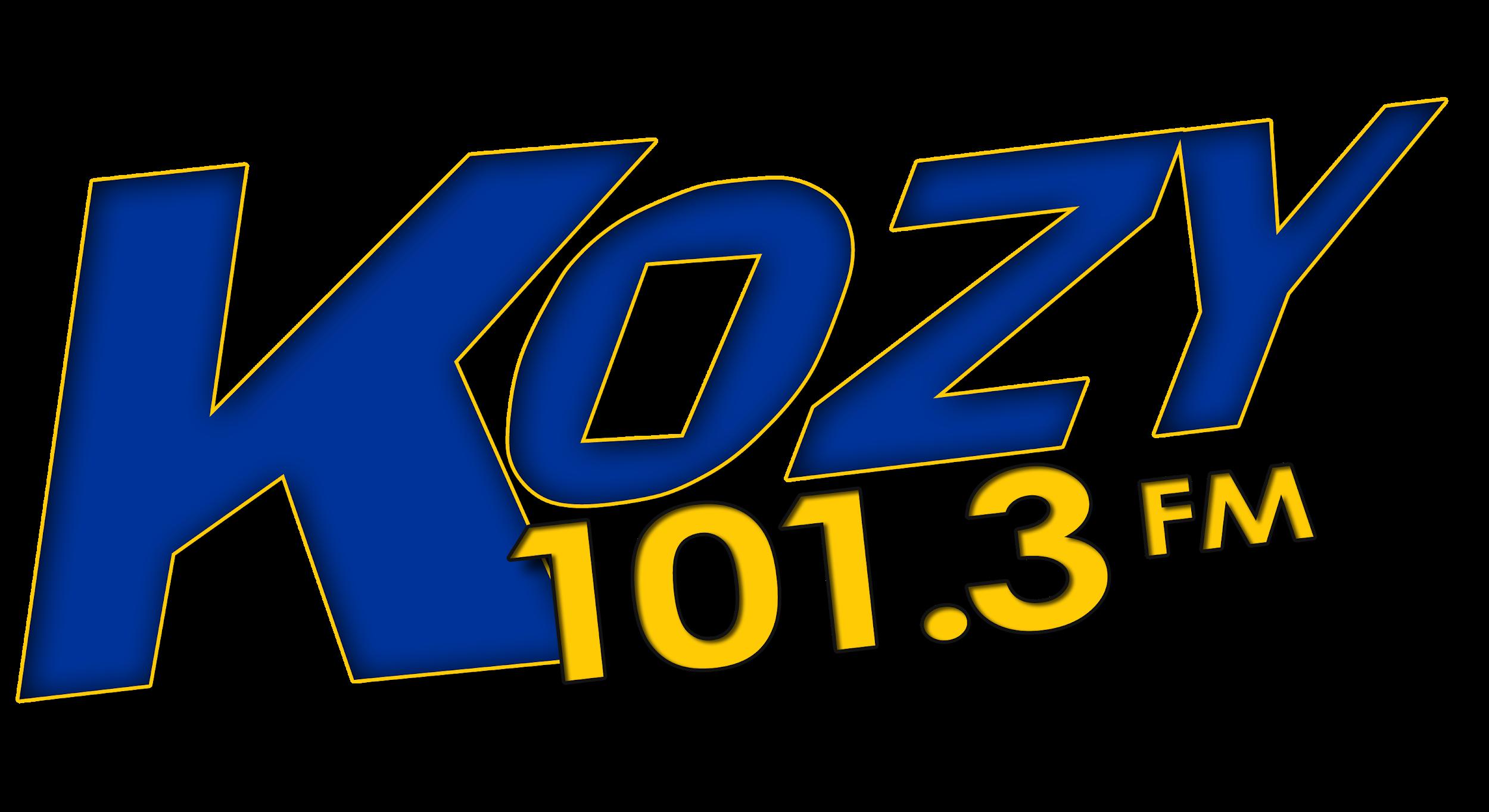 - on 101.3 FM KOZY