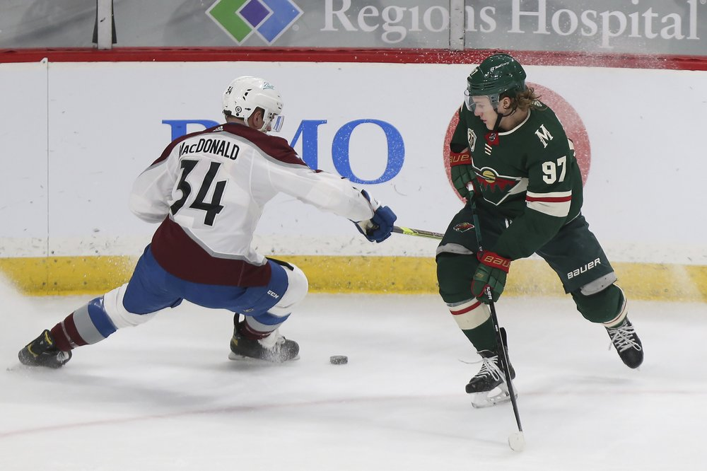 Wild slow Avs' surge with 8-3 win