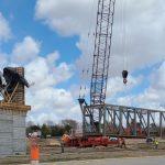 Contractor to Pour Concrete Deck on New Pedestrian Bridge