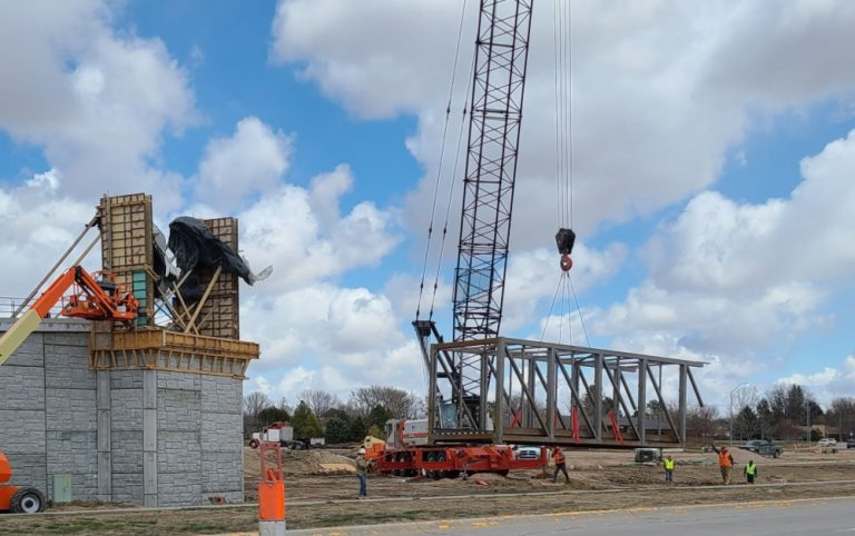 Monument Valley Pathway pedestrian bridge begins to arrive
