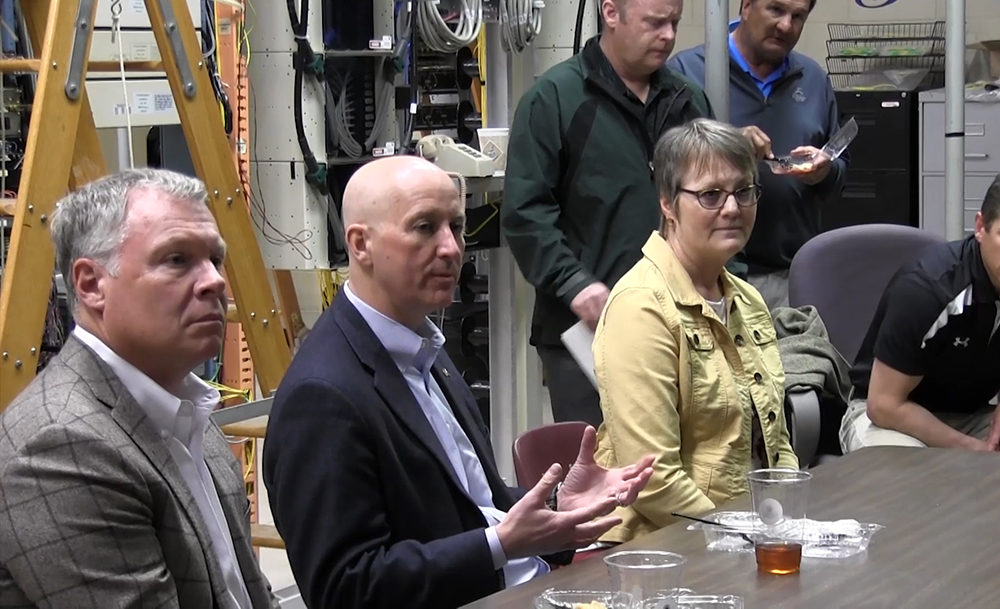 Governor visits rural communities where fiber connection is making a difference