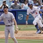 Smith, Taylor power short-handed Dodgers past Rockies