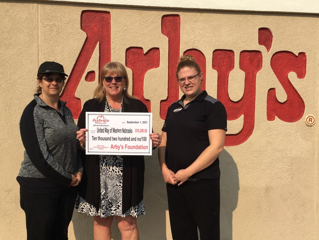 United Way of Western Nebraska Receives $10,200 Grant from Arby's Foundation