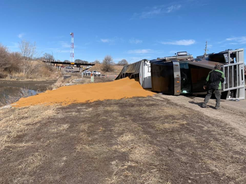 Downed Grain Truck in Holdrege, No Injuries