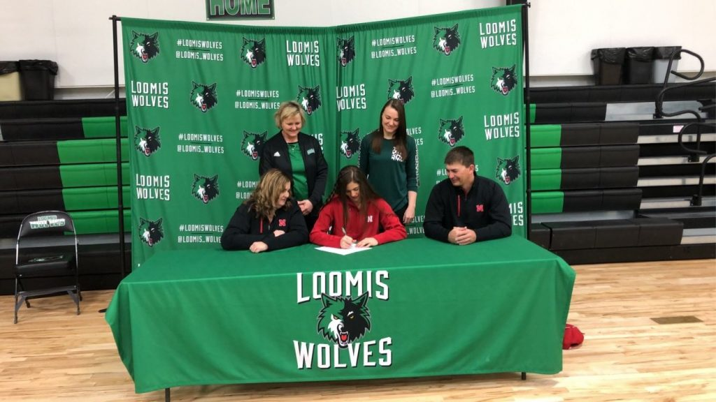 Loomis' Schemper Signs With Huskers Track and Field