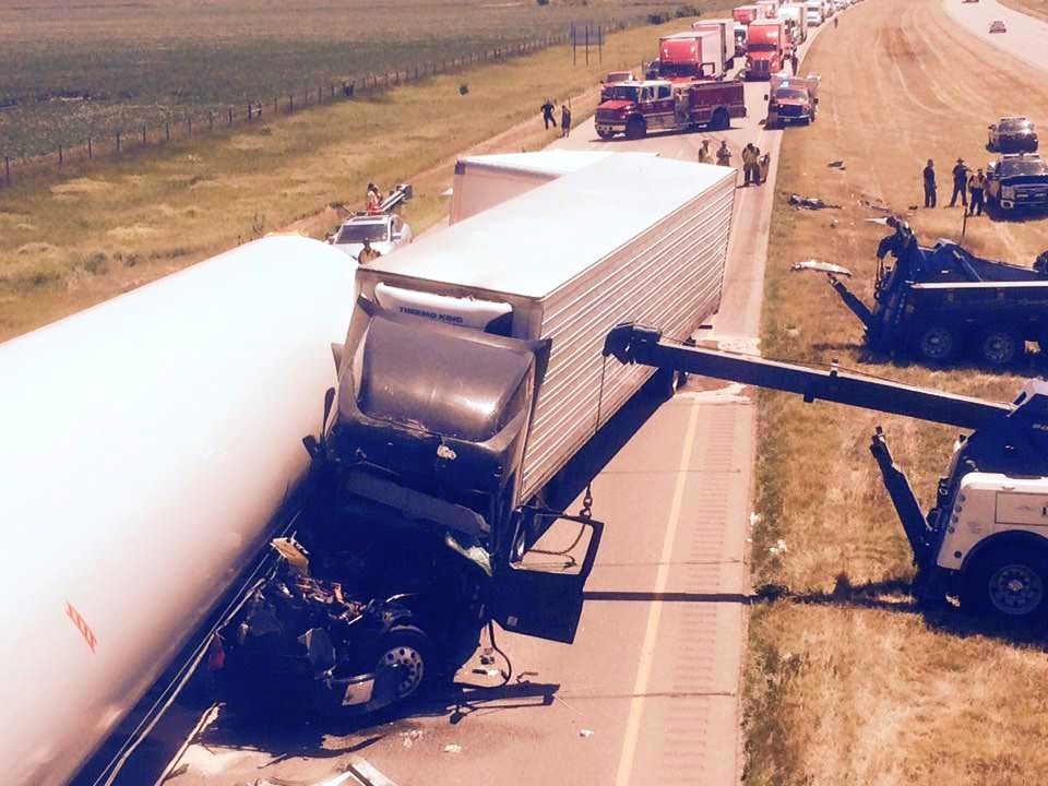 3-semi accident closes westbound I-80 traffic for almost 5