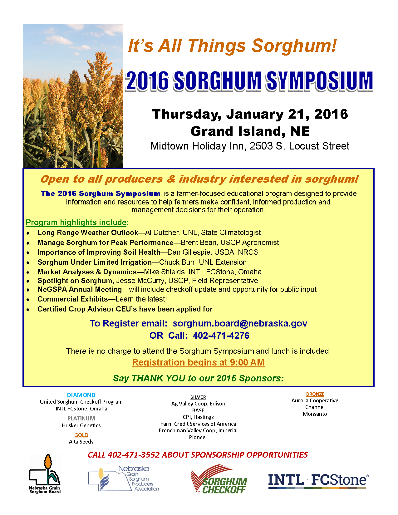 2016 Sorghum Symposium - Flyer - 12.30.15