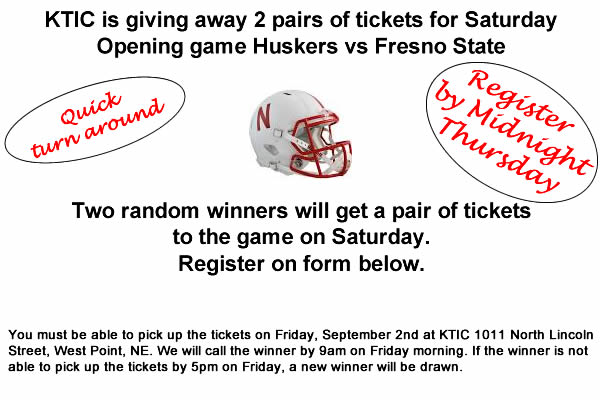 HUSKER FOOTBALL GIVEAWAY 3
