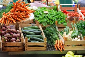 Farmers' Markets for those buying locally produced products