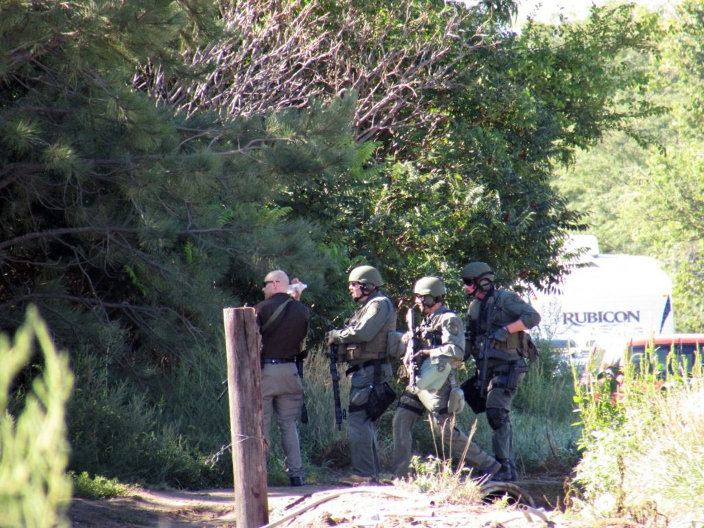 Grenade from Saturday's standoff safely detonated Monday