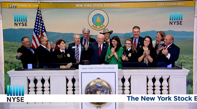 Secretary Perdue Rings the Closing Bell at NYSE