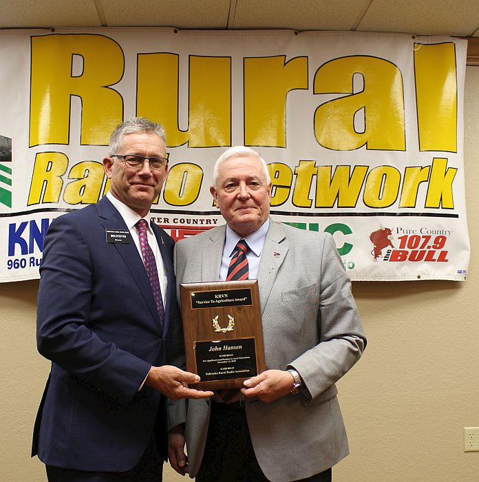 NFU's John Hansen honored at NRRA's annual meeting