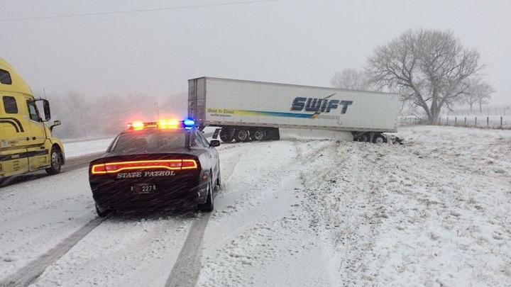Winter storm meant a busy weekend for the State Patrol