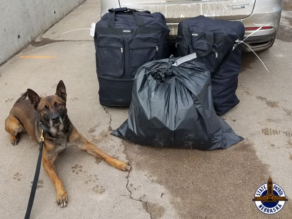 Troopers Find 243 LBs of Marijuana, Other Drugs in I-80 Traffic Stops