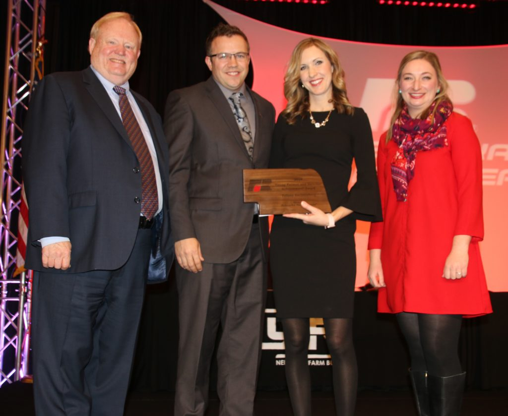 Boyd County Farm Bureau Couple Take Home  NEFB's Young Farmer and Rancher Achievement Award