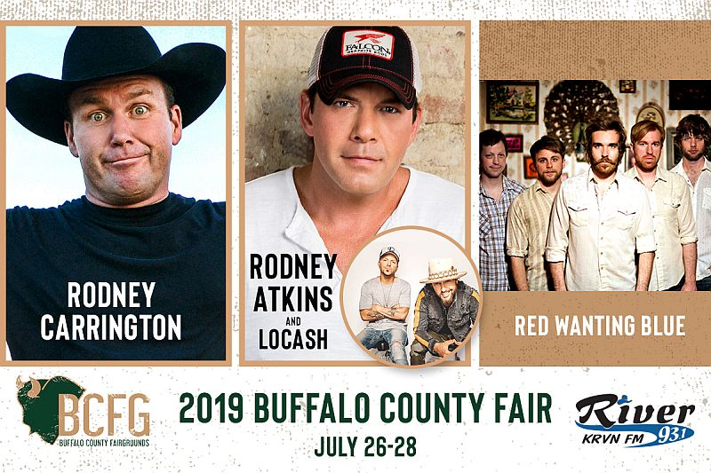 Rodney Atkins, LOCASH, Rodney Carrington and Red Wanting Blue to Bring Entertainment to the 2019 Buffalo County Fair