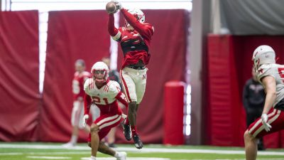 Huskers Continue Spring Workouts