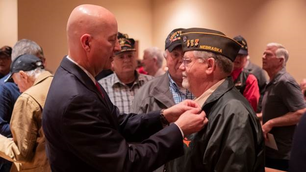 (Video) Gov. Ricketts Honors Veterans on National Vietnam War Veterans Day