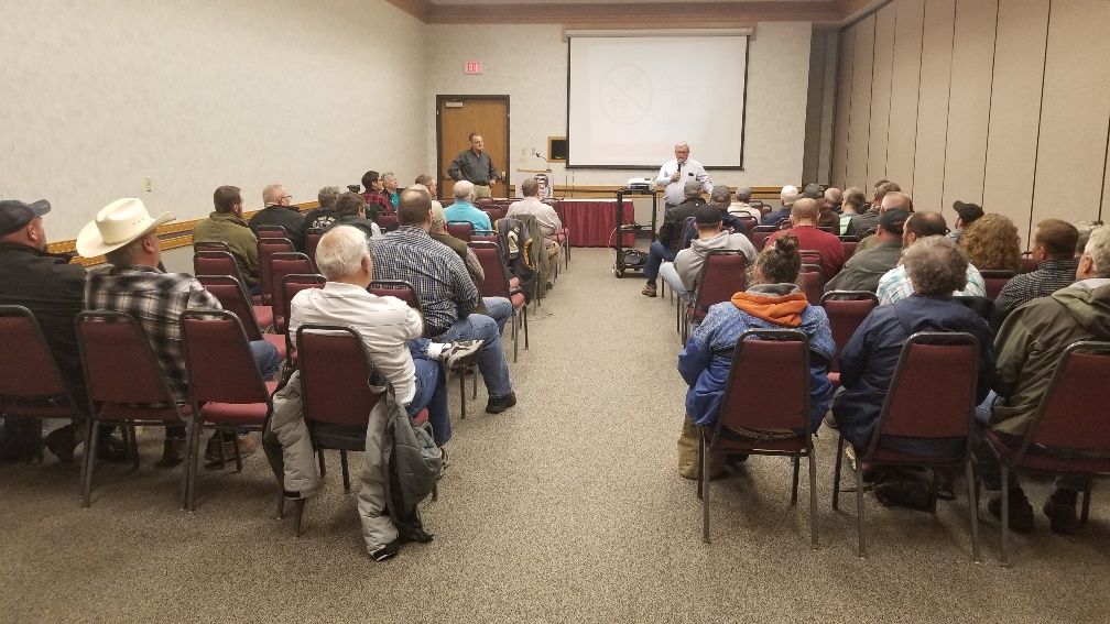 Property tax relief group explains initiative in Gering stop