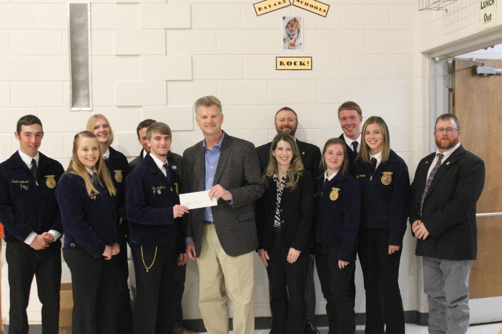 WESTCO and Land O'Lakes Foundation donate $10K to Bayard FFA