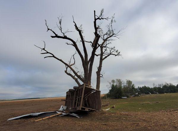 Farm damage near Farnam