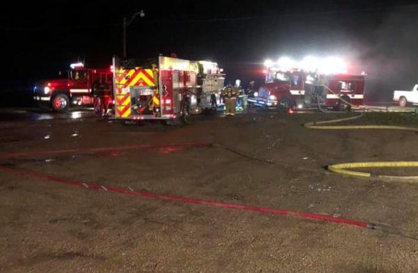 Farwell firehouse fire blamed on lightning