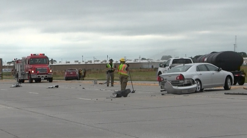 Two-vehicle accident near Scottsbluff sends at least one to the hospital