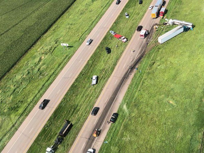 I-80 westbound reopened in accident zone, no serious injuries reported