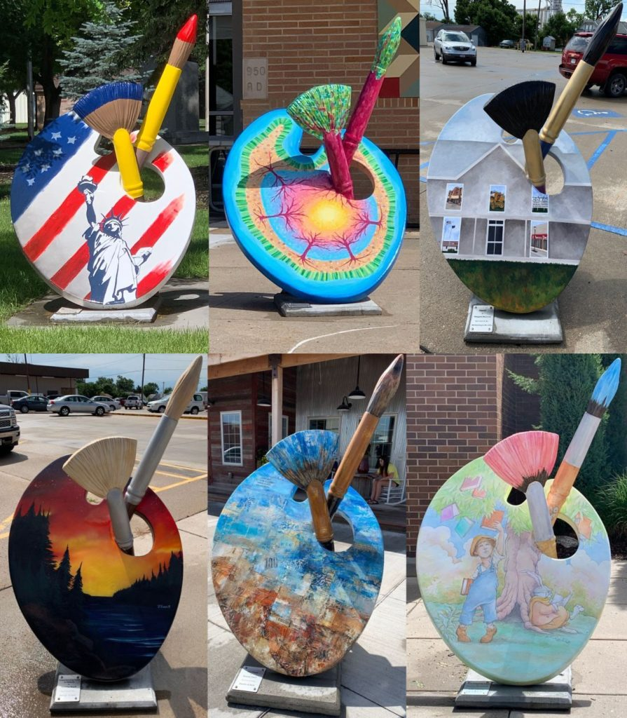 Art Palettes in Cozad Brighten the Town, Celebrate Art Heritage.