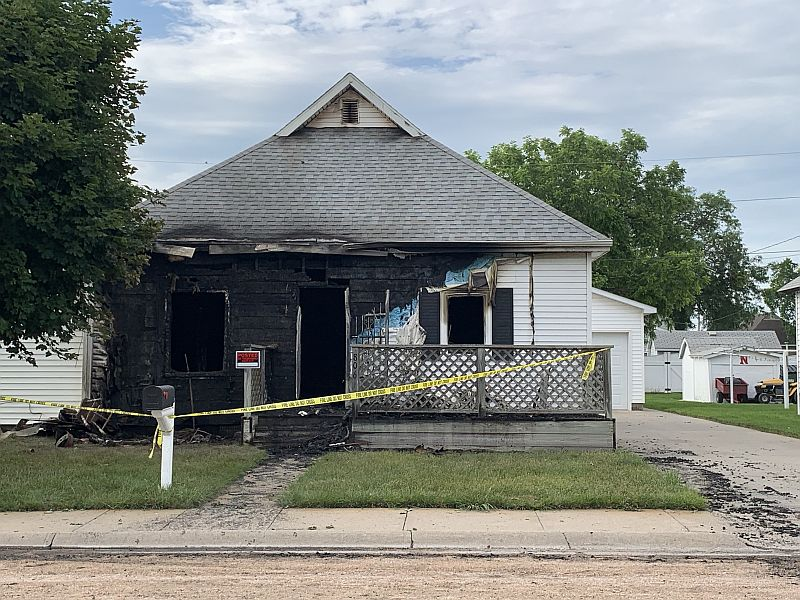 (AUDIO) Significant damage to house in early morning Cozad fire
