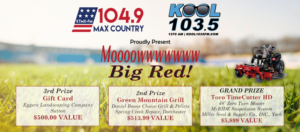 Mow Big Red Giveaway Taking Place Today