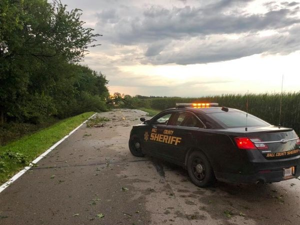 Storm related death reported in Hall County