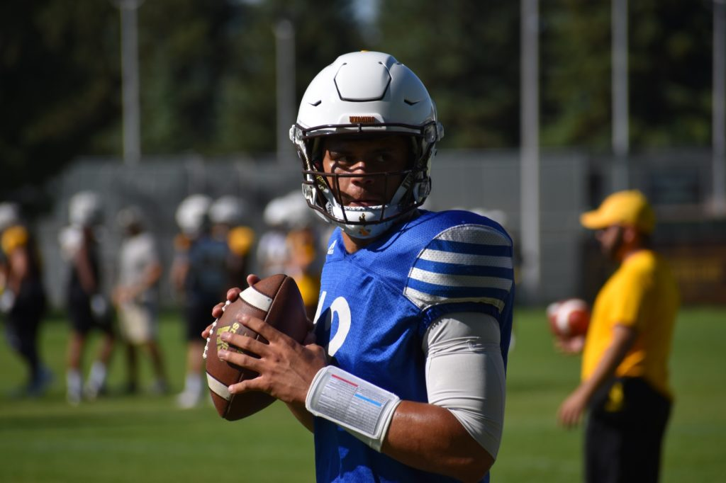 Wyoming football practice report
