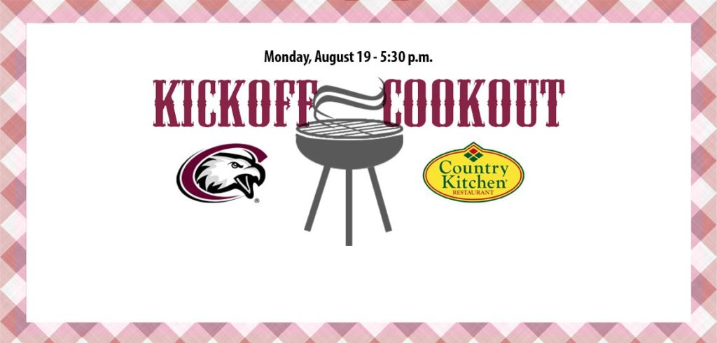 Kickoff Cookout with Chadron State Booster Club next Monday