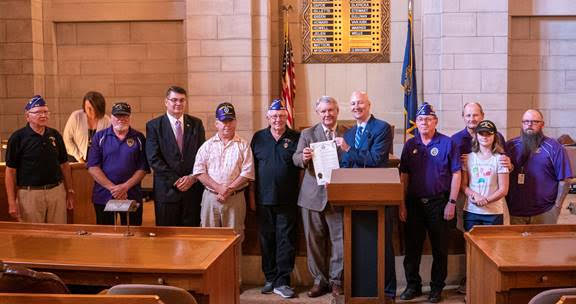 Gov. Ricketts Honors Veterans on Purple Heart Day