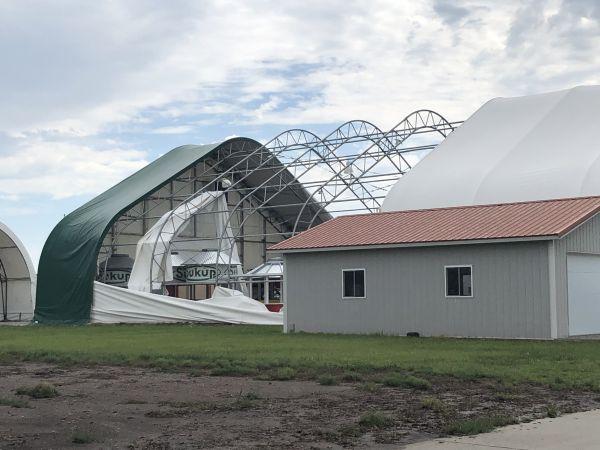 Husker Harvest Days buildings damaged by thunderstorm winds