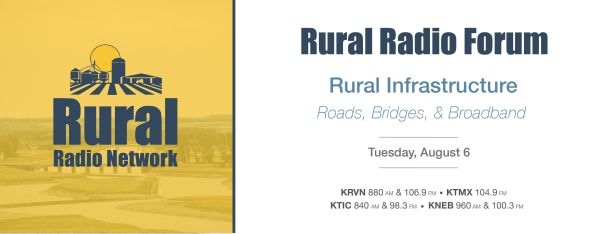 """Rural Radio Forum: Rural Infrastructure – Roads, Bridges &  Broadband"""