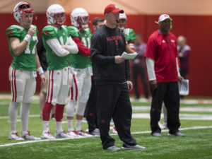 Huskers Finish Week in Full Pads on Friday
