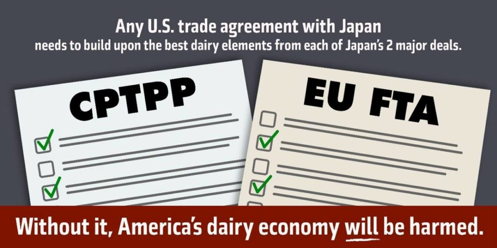 Dairy Industry Asks U.S. Government to Swiftly Secure Strong Trade Deal with Japan