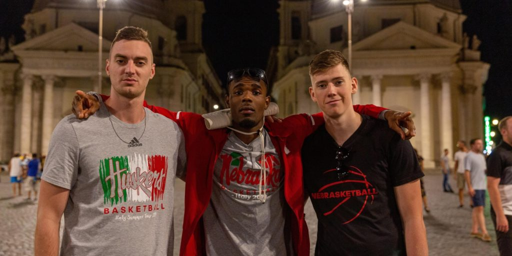 Huskers arrive in Rome