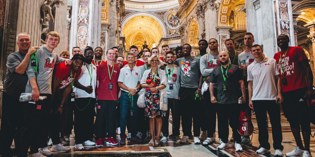 Huskers open Italian trip with 87-56 win