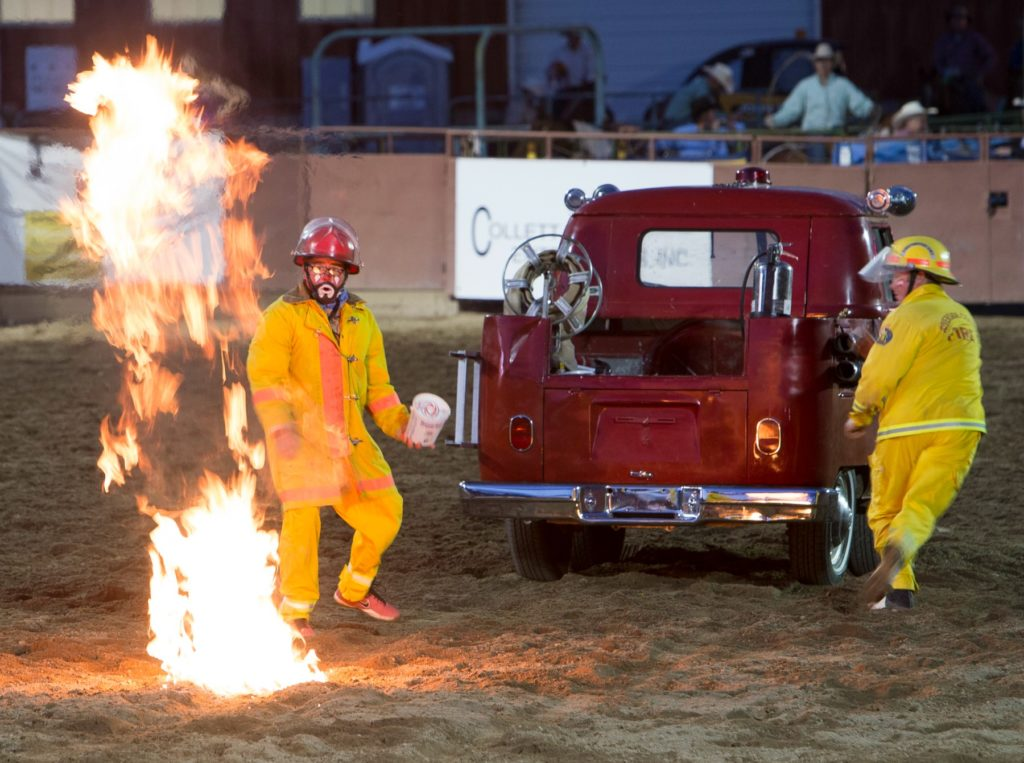 Fires, Funnies at the Rodeo.