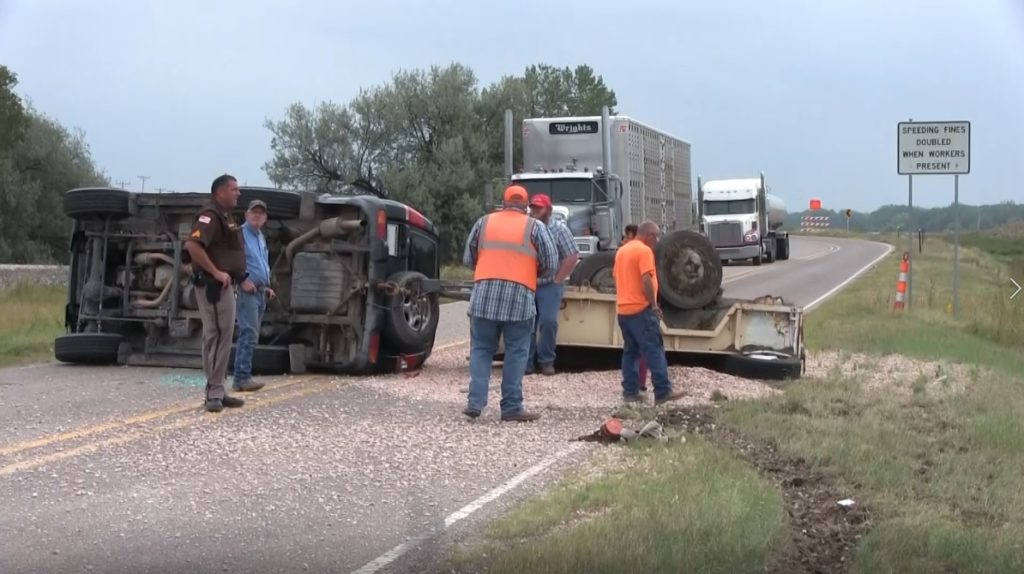 Couple walks away from rollover accident east of Scottsbluff Tuesday