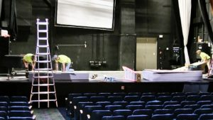 Midwest Theater Stage Floor Receives New Surface