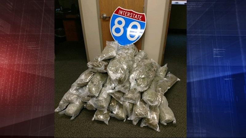 Troopers Find 155 LBs of Marijuana, THC Vape Cartridges in I-80 Stop