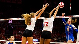 NU Battles Back For Five Set Win