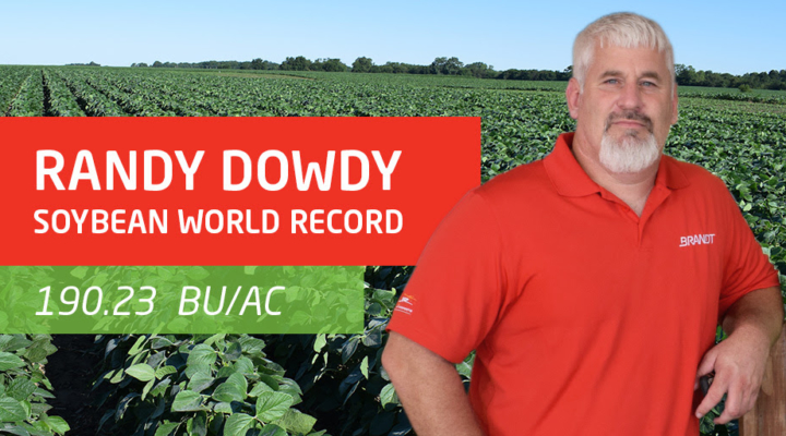 Randy Dowdy breaks soybean yield world record