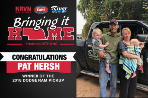 VIDEO: Red Cloud farmer winner of KRVN's Bringing it Home Ram 1500 pickup!